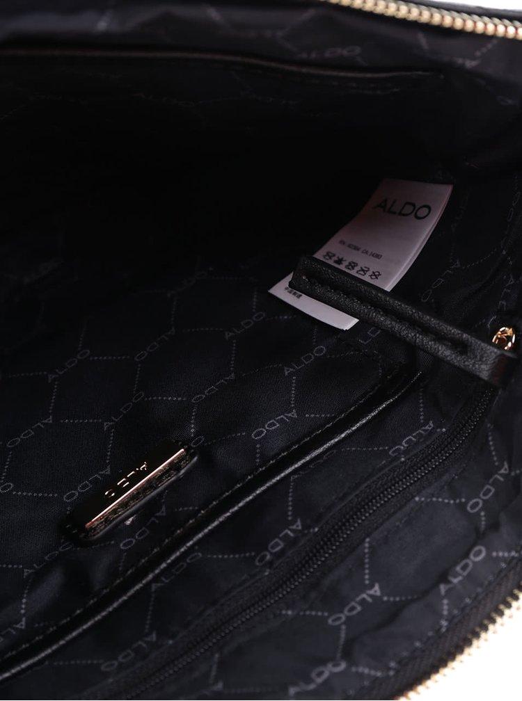 Černé žebrované psaníčko ALDO Pombia