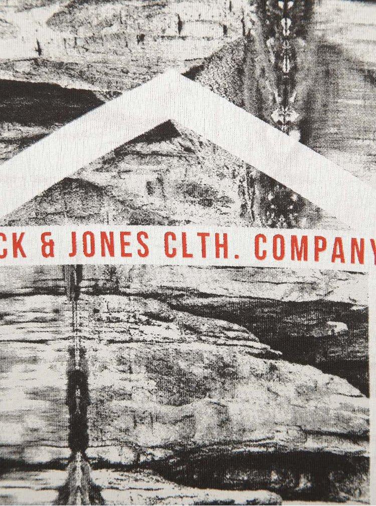 Vínové tričko s potlačou Jack & Jones Frank