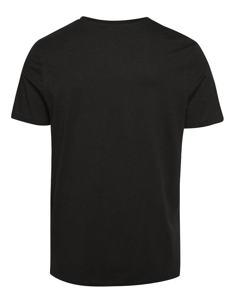 Černé triko s potiskem Jack & Jones Frank