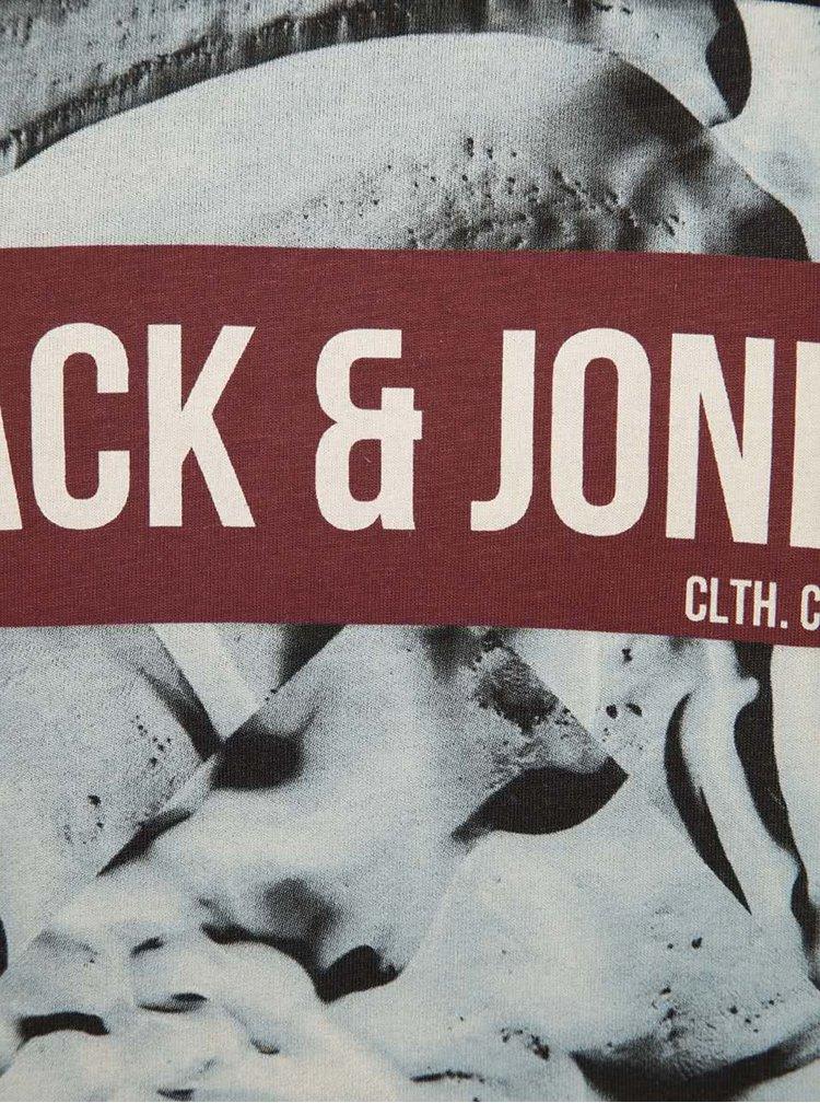 Čierne tričko s potlačou Jack & Jones Frank