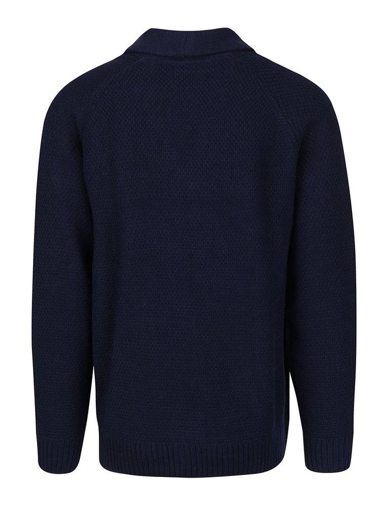 Tmavě modrý kadrigan Burton Menswear London