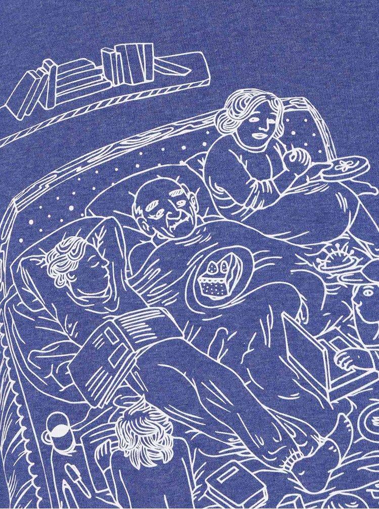 """""""Dobré"""" modré pánské tričko Cesta domů"""