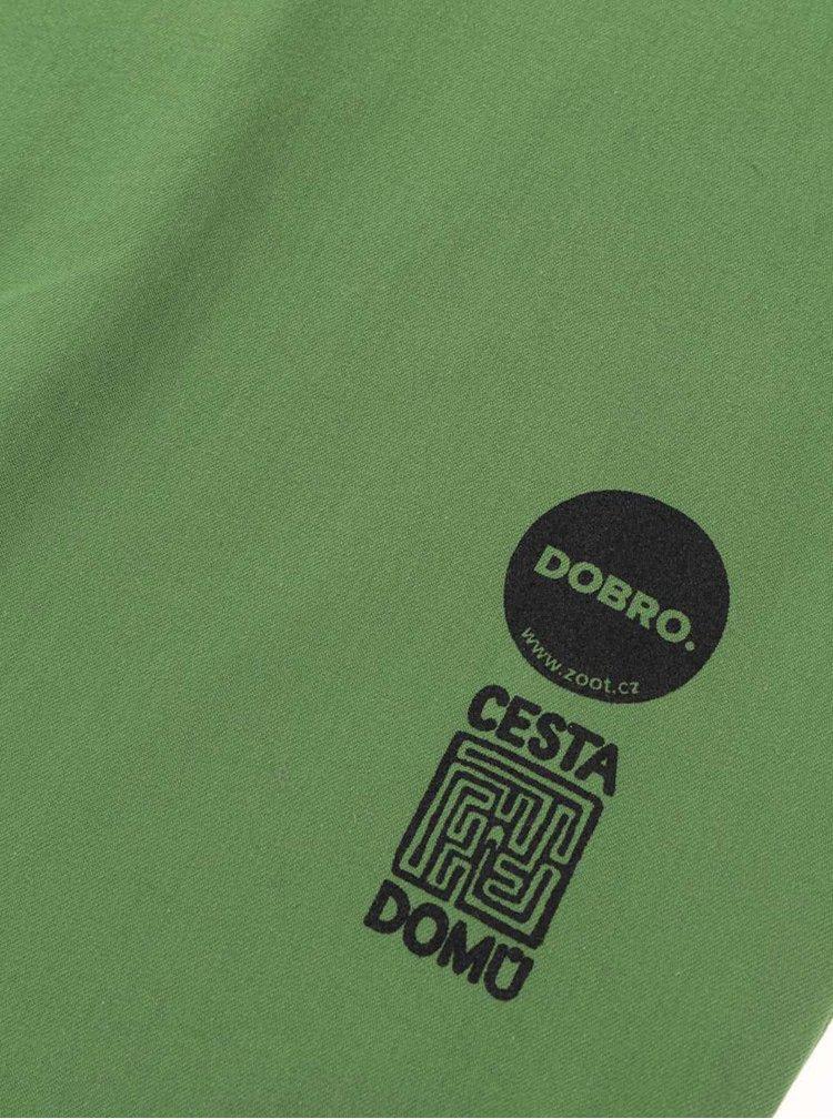 """""""Dobrá"""" zelená plátěná taška Cesta domů"""