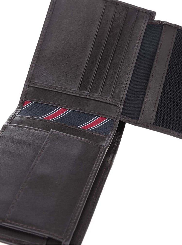 Tmavě hnědá pánská kožená peněženka s kapsou na drobné Tommy Hilfiger