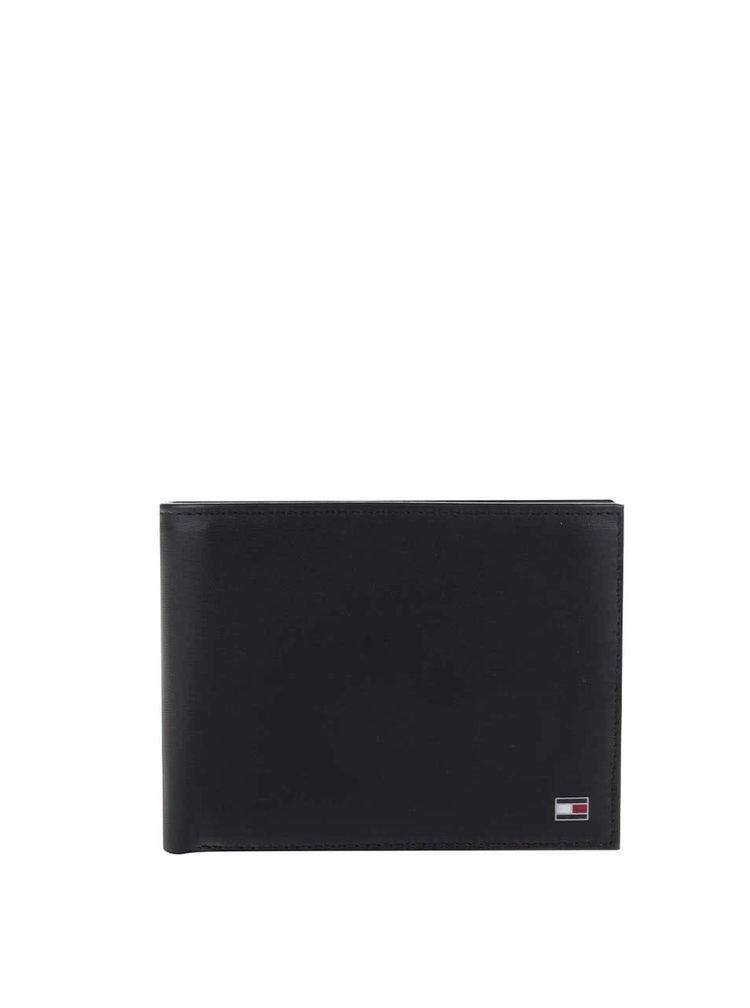 Černá pánská kožená peněženka s kapsou na drobné Tommy Hilfiger