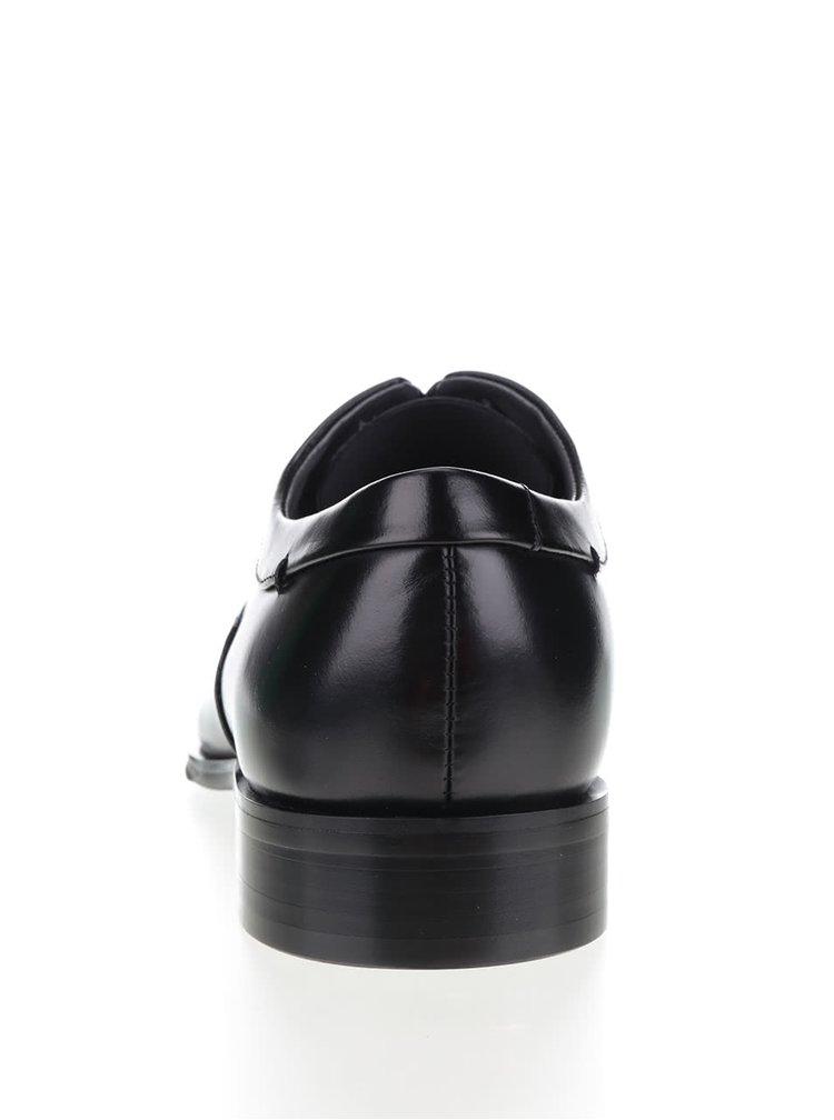 Čierne pánske kožené poltopánky ALDO Orgad