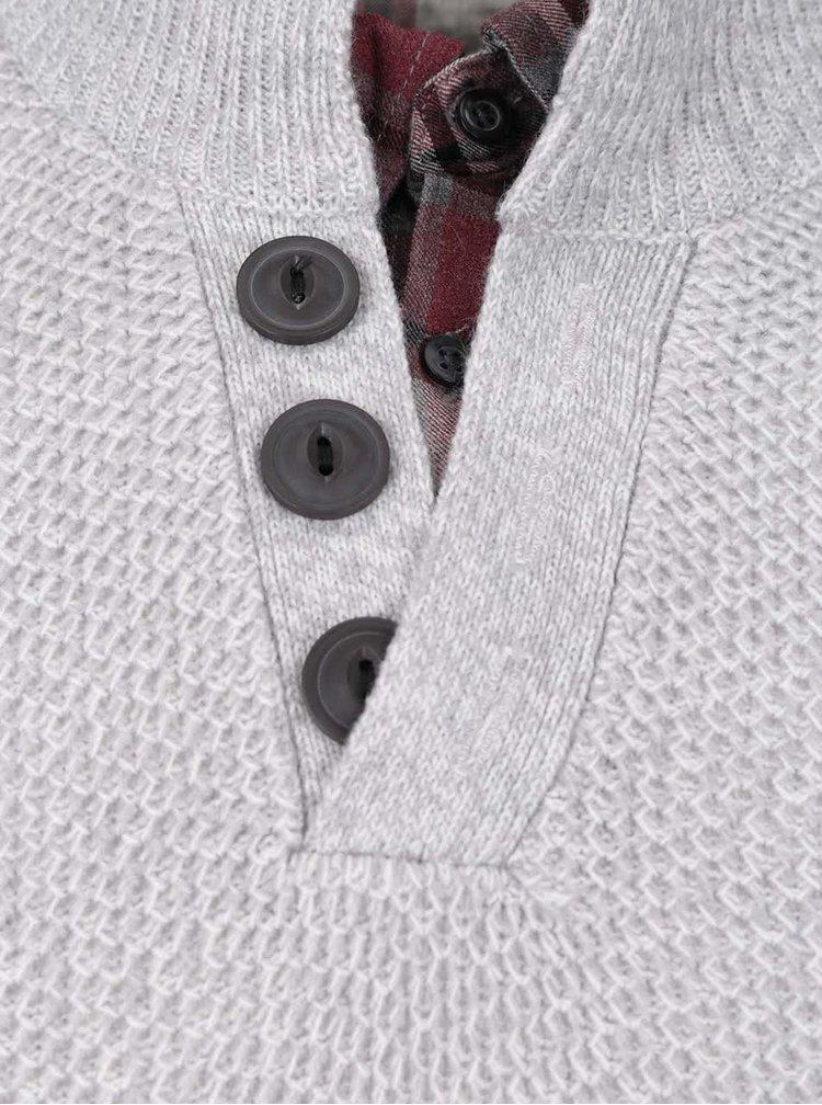Šedý svetr s košilovým límcem Burton Menswear London