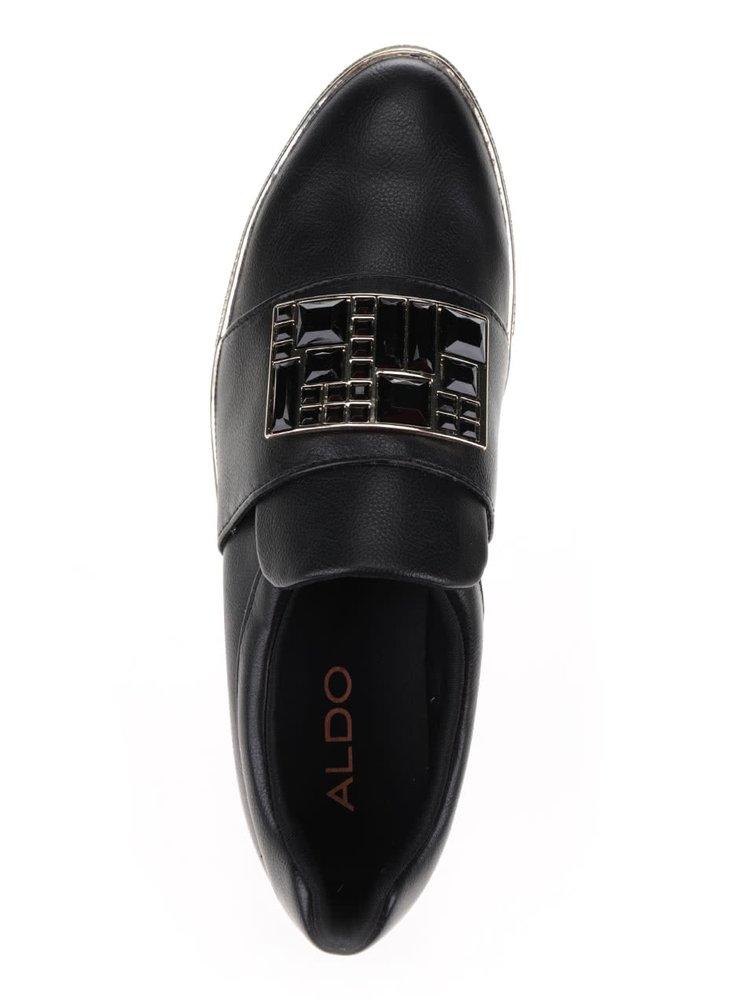 Černé dámské boty s aplikací ALDO Ogima