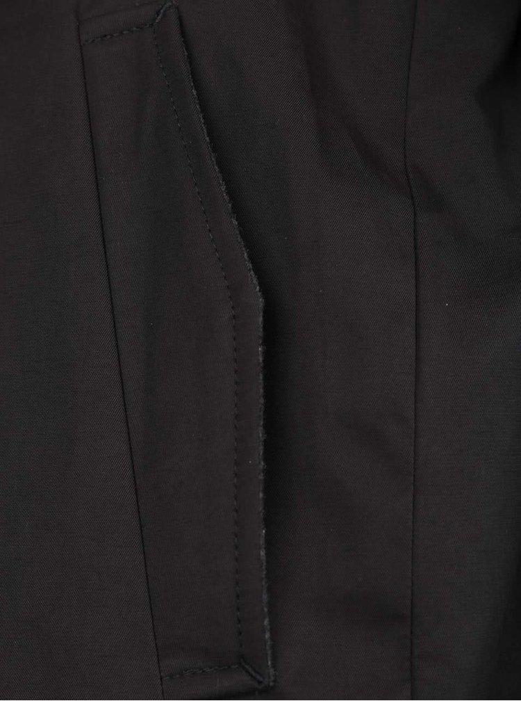Černý trenčkot s páskem Burton Menswear London