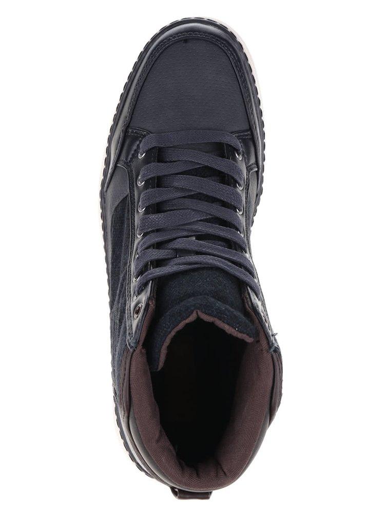 Tmavě modré kotníkové tenisky Burton Menswear London Beacon