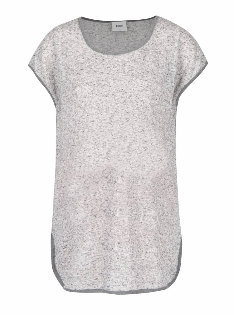 Šedé žíhané těhotenské tričko Mama.licious Gianna