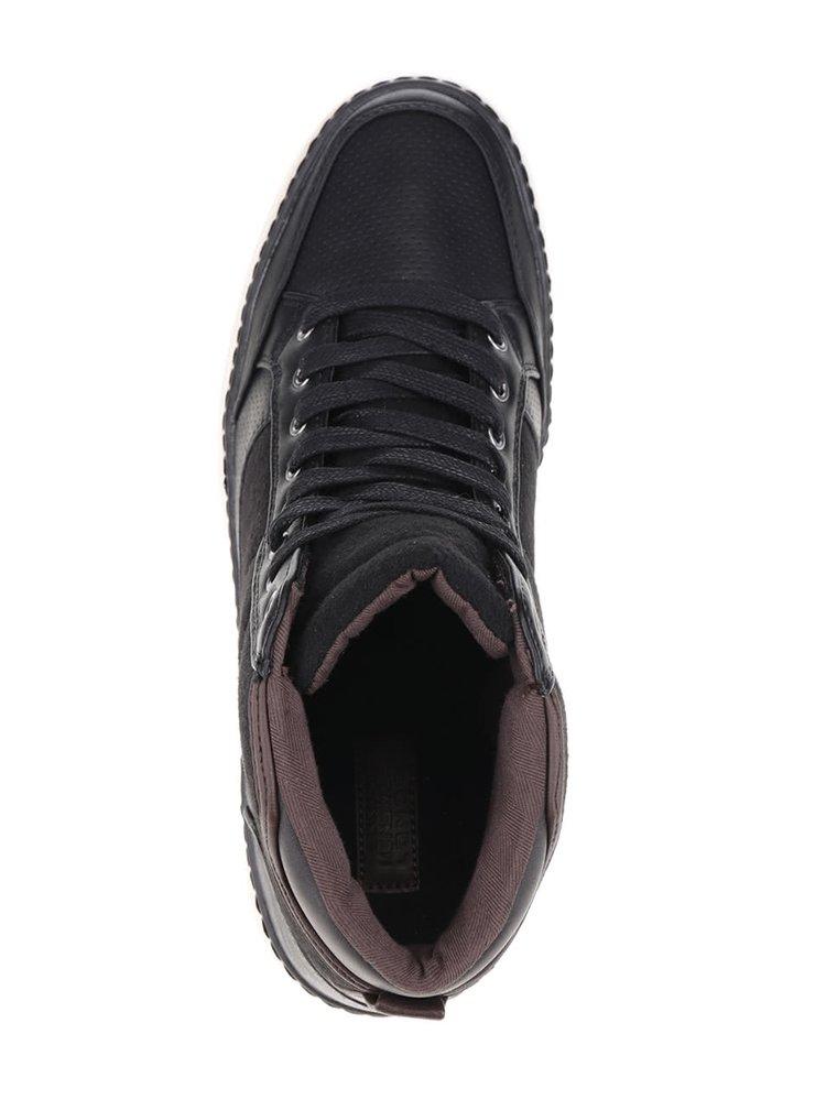 Teniși înalți negri Burton Menswear London Beacon