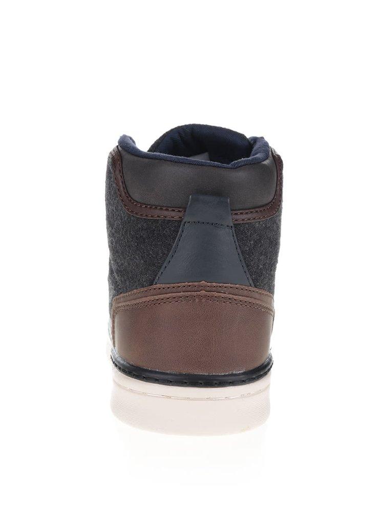 Teniși înalți  maro Burton Menswear London Beacon cu detalii negre