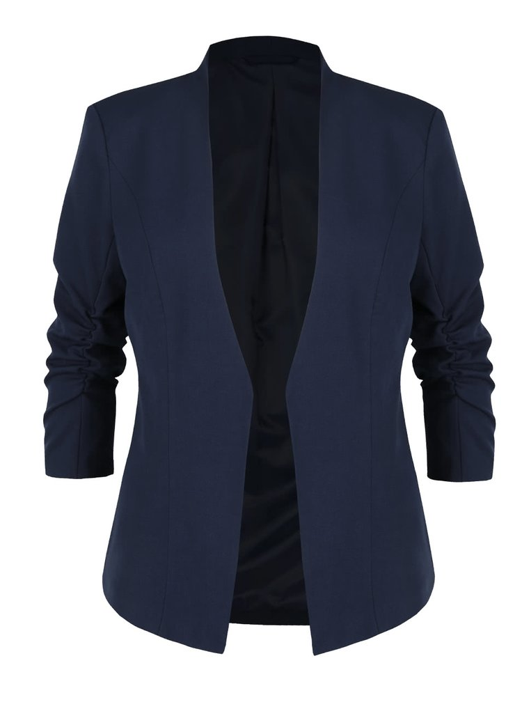 Tmavě modrý blazer s 3/4 rukávy VILA Her