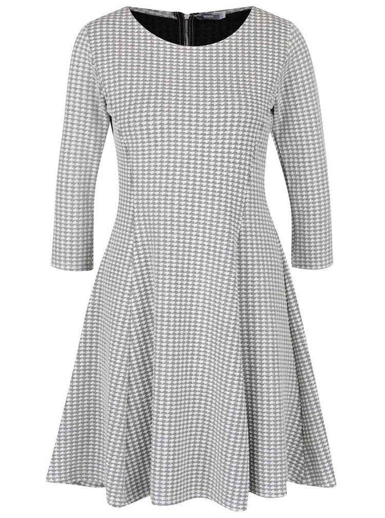 Šedé vzorované šaty s 3/4 rukávy ZOOT
