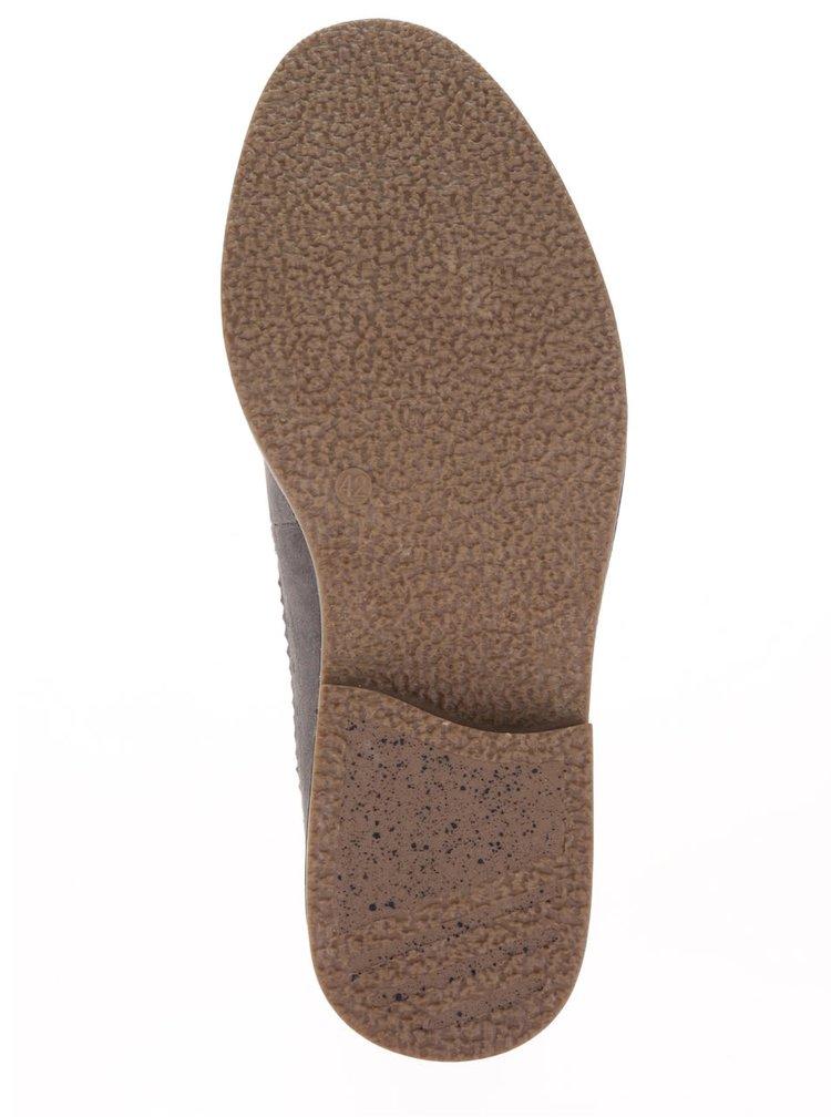 Sivé brogue poltopánky v semišovej úprave Burton Menswear London Marley