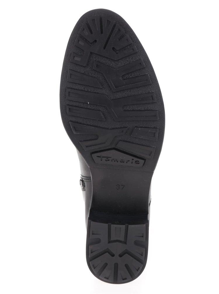 Cizme negre Tamaris din piele