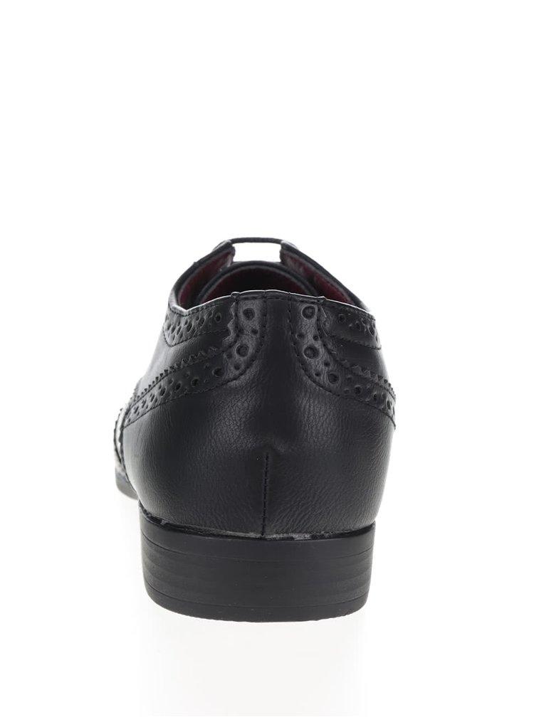 Černé brogue polobotky Burton Menswear London Ripley