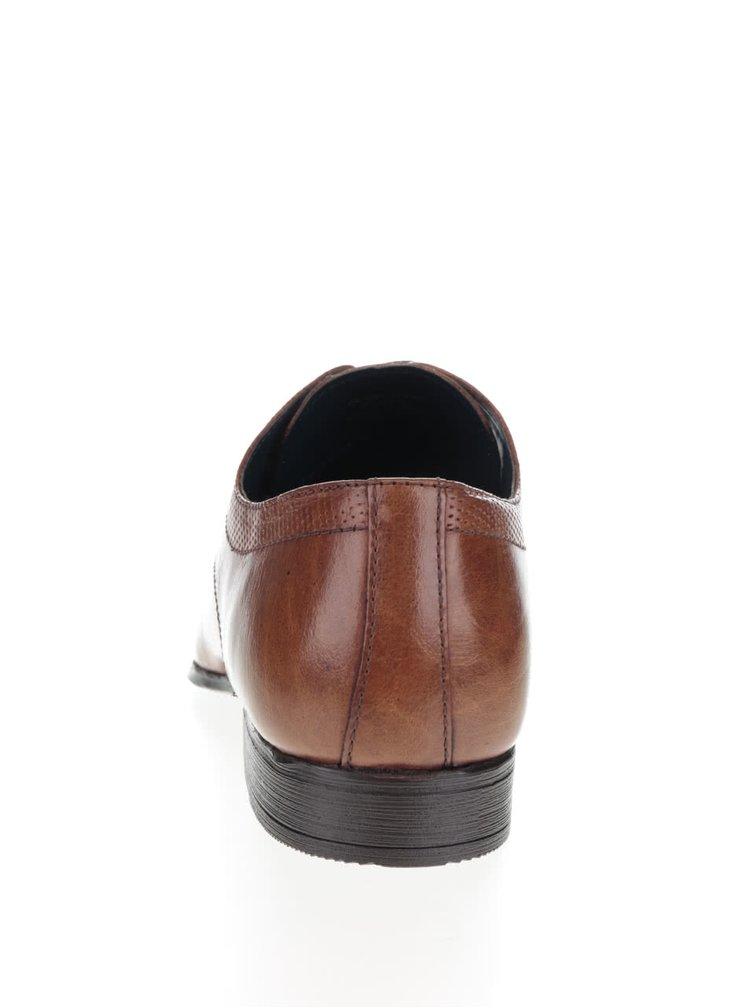 Světle hnědé kožené polobotky Burton Menswear London Kingsman