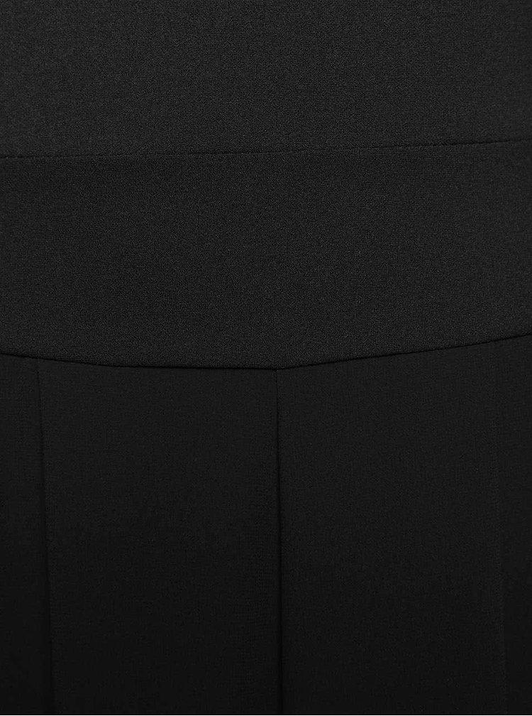 Černý overal s krajkovým dekoltem Alchymi Kaoru