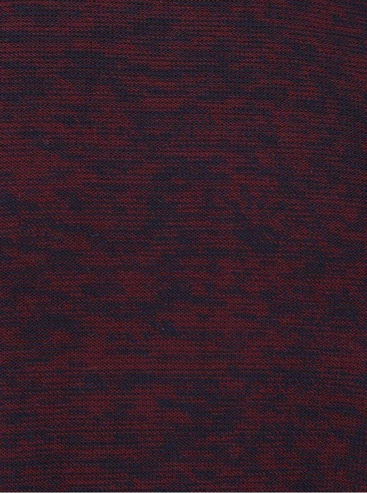 Vínový žíhaný lehký svetr Jack & Jones Argo