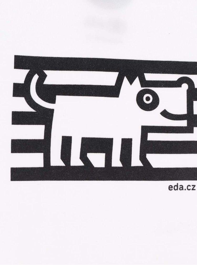 """""""Dobré"""" bílé body s potiskem psa pro EDU"""