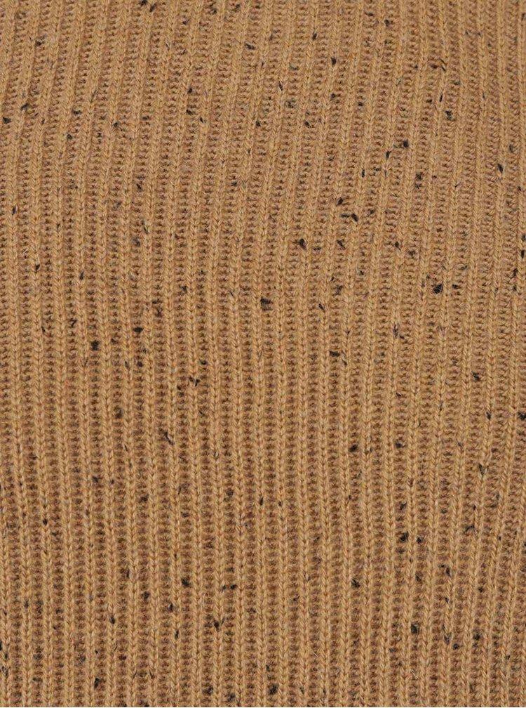 Béžový žíhaný žebrovaný svetr Jack & Jones Ranvarton