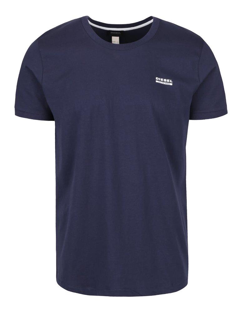 Tmavě modré pánské triko pod košili Diesel