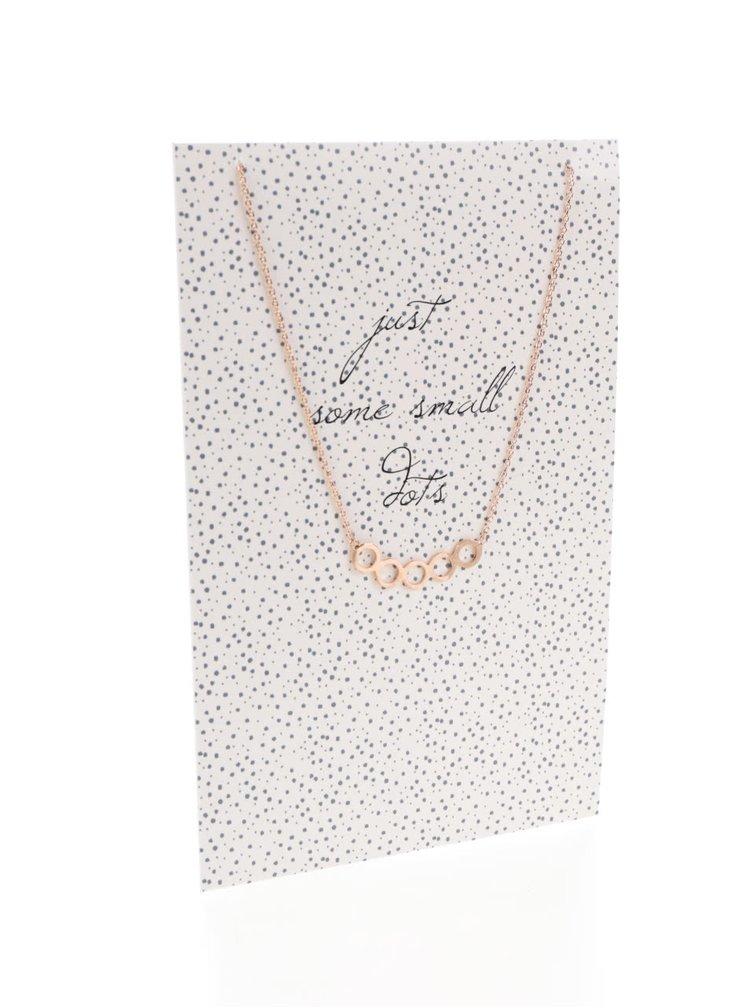 Náhrdelník s přívěskem v barvě růžového zlata v dárkovém balení Pieces Just some small dots