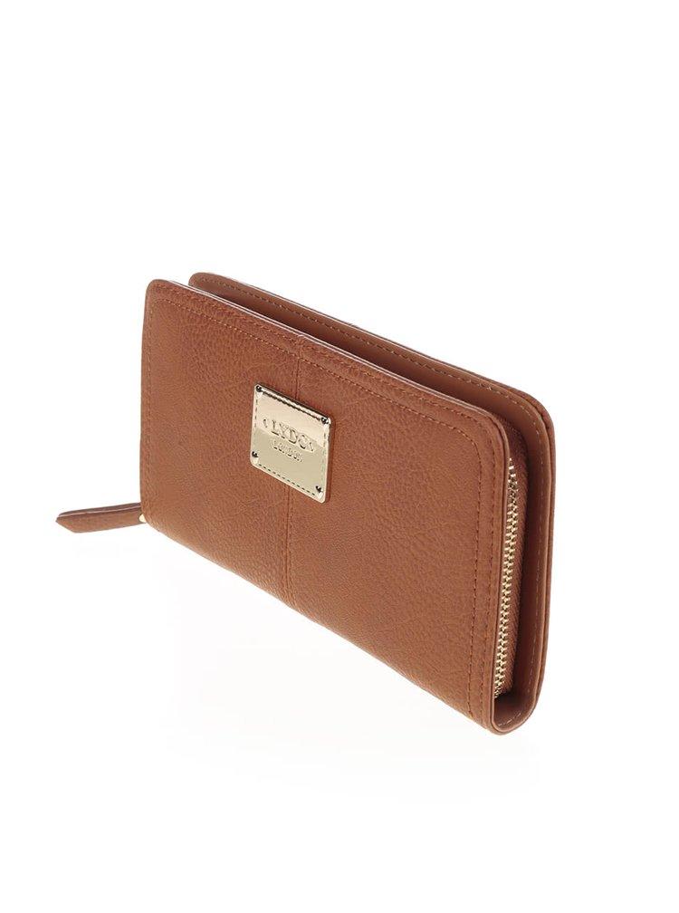 Hnědá velká obdelníková peněženka LYDC