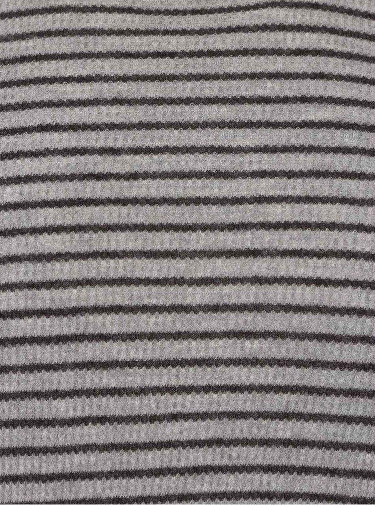 Tmavě šedé pruhované triko Jack & Jones Kirk