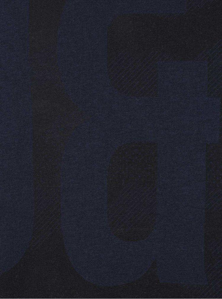 Tmavě modré triko s potiskem Jack & Jones Came