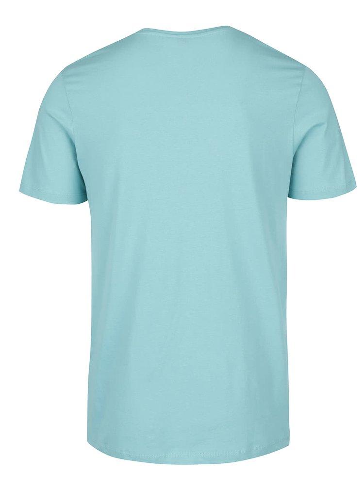 Světle modré triko s potiskem Jack & Jones Came