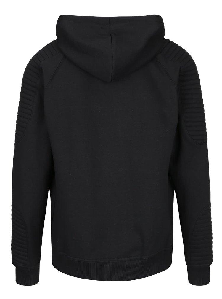 Černá mikina na zip s kapucí Blend
