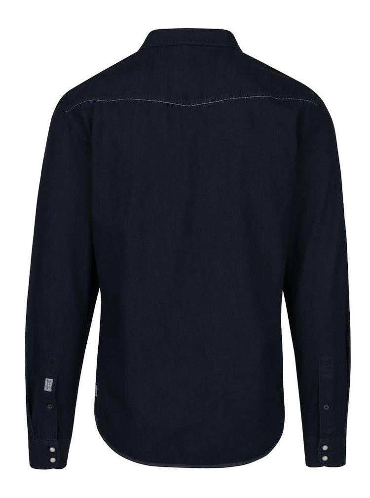 Tmavě modrá džínová košile s kapsami Blend