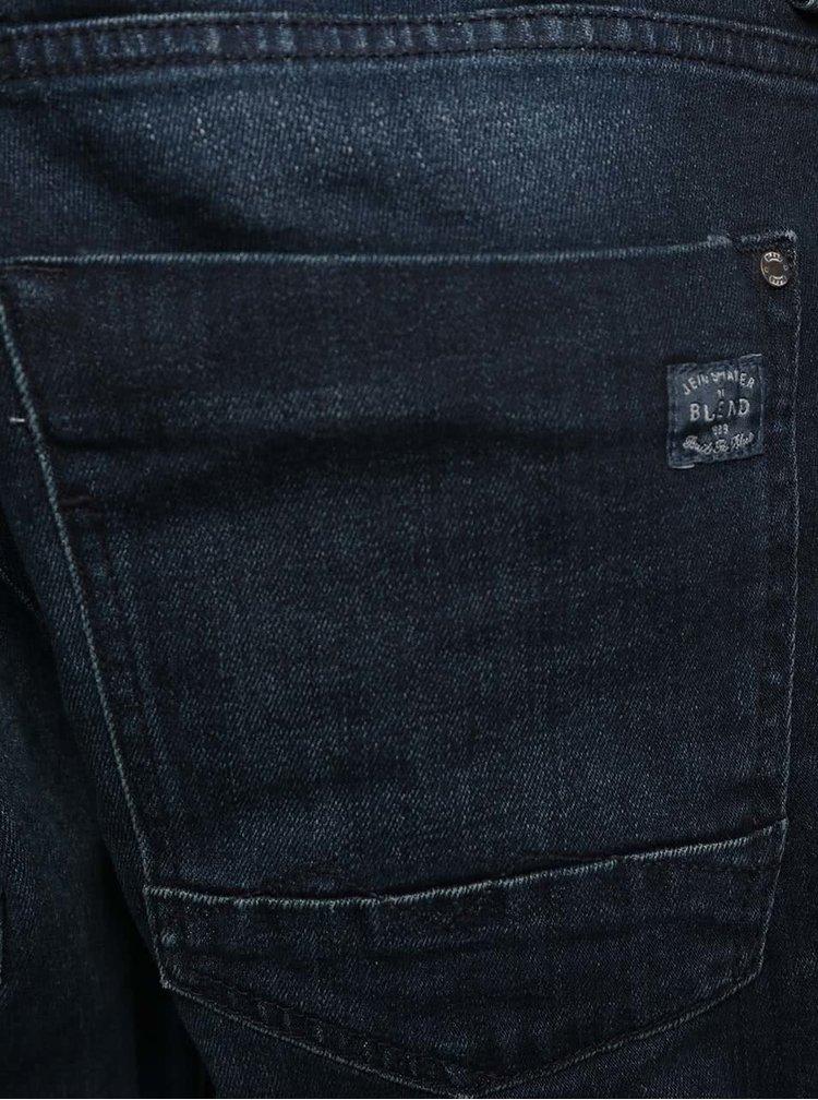 Jeanşi slim fit albastru închis cu aspect prespălat Blend