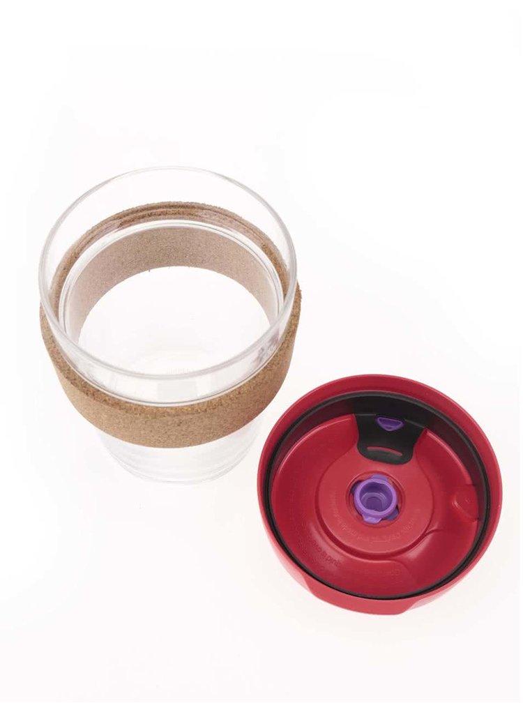 Designový cestovní skleněný hrnek KeepCup Brew Sumac Cork Medium