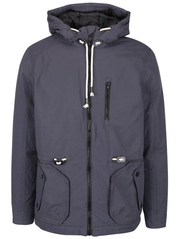 Tmavě šedá bunda s kapucí Blend