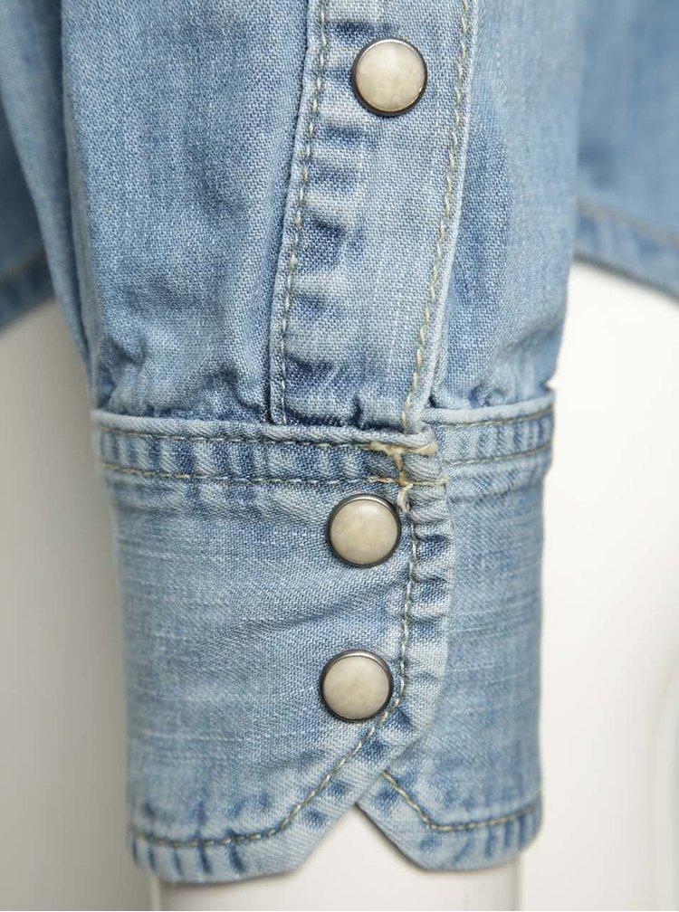 Modrá pánská džínová košile Pepe Jeans Carson