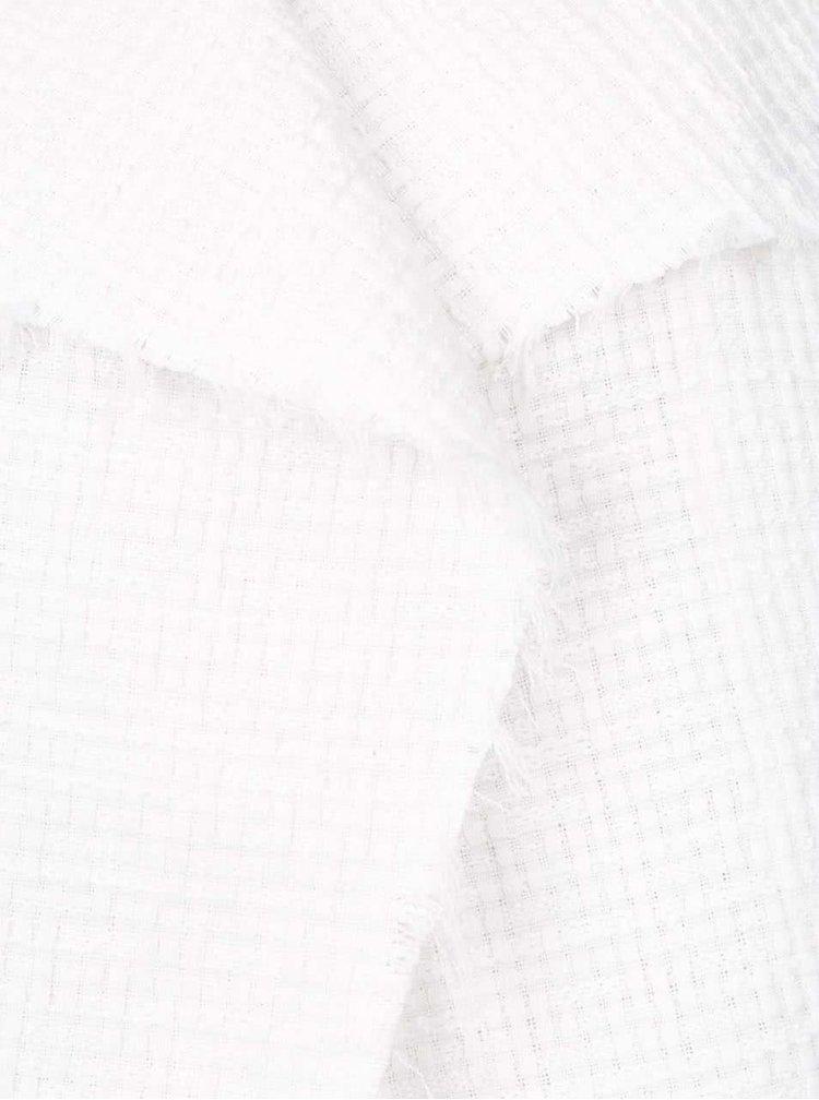 Krémový blejzr s jemným plastickým vzorem VERO MODA Jolene