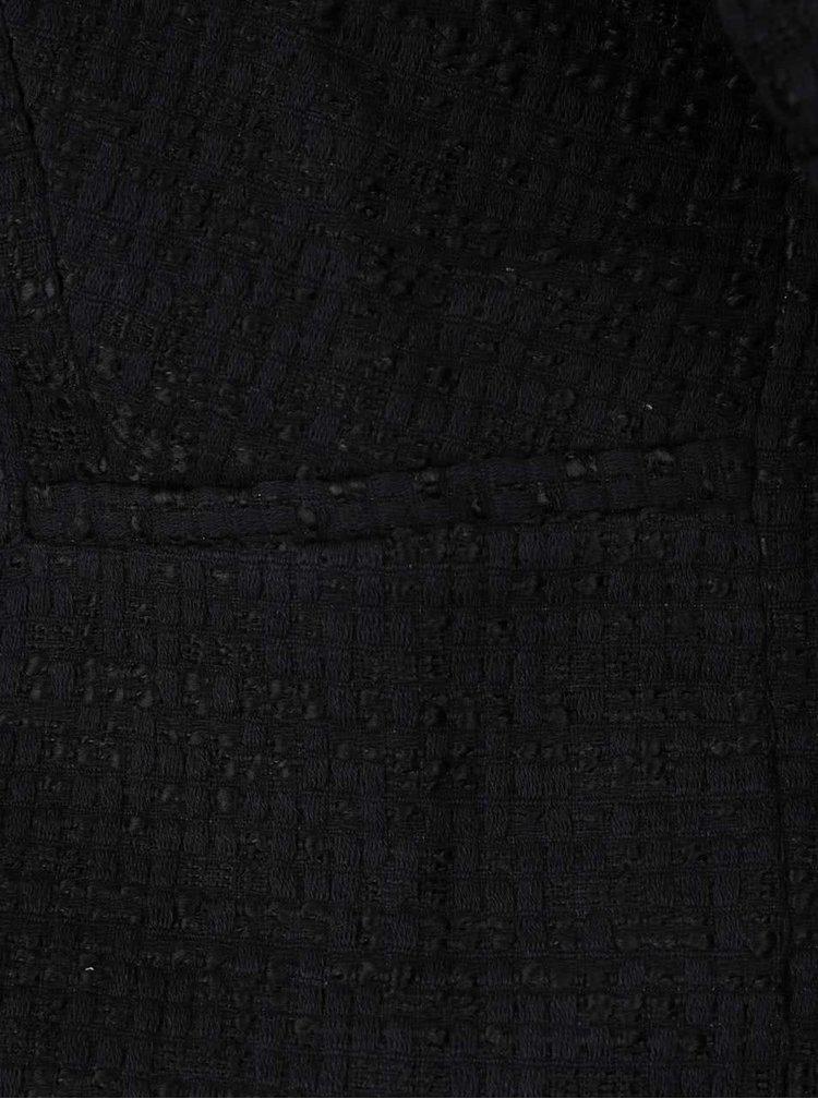 Černý blejzr s jemným plastickým vzorem VERO MODA Jolene