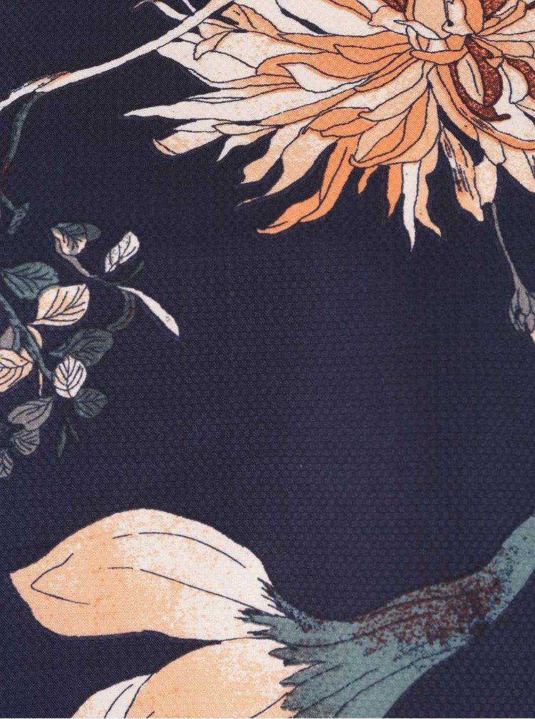 Rochie albastru inchis cu model floral VERO MODA Fallon