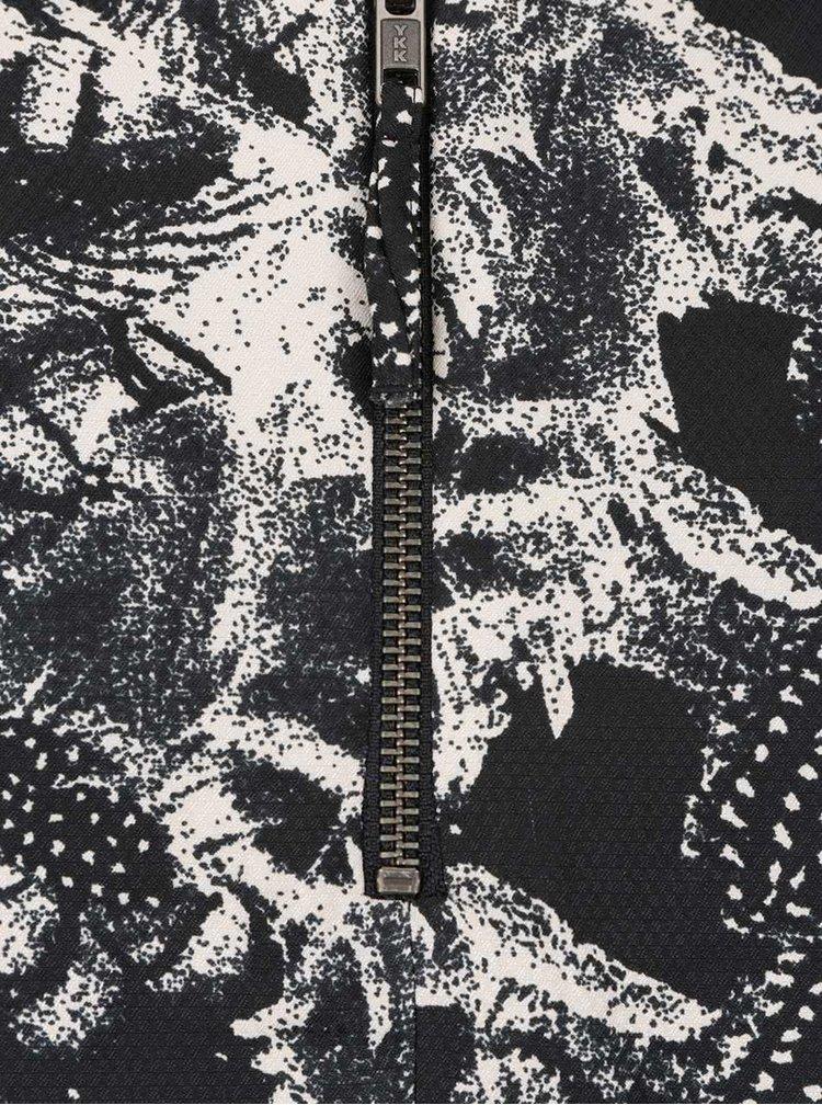 Černo-krémové vzorované šaty VERO MODA Fallon
