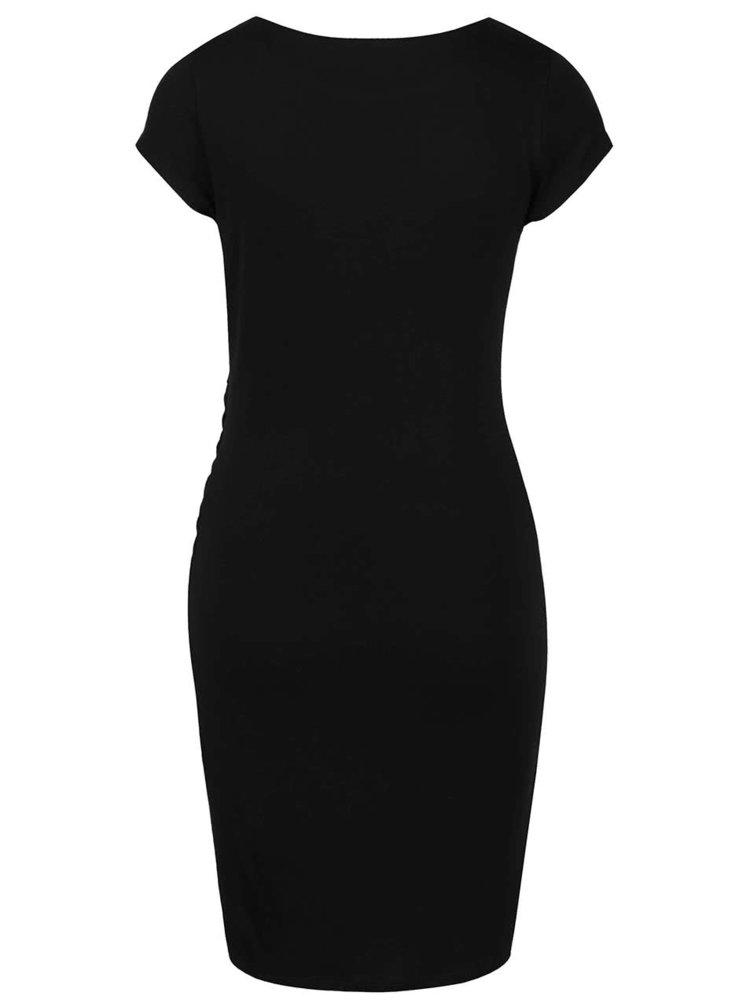 Černé šaty s výšivkou Desigual Madrid
