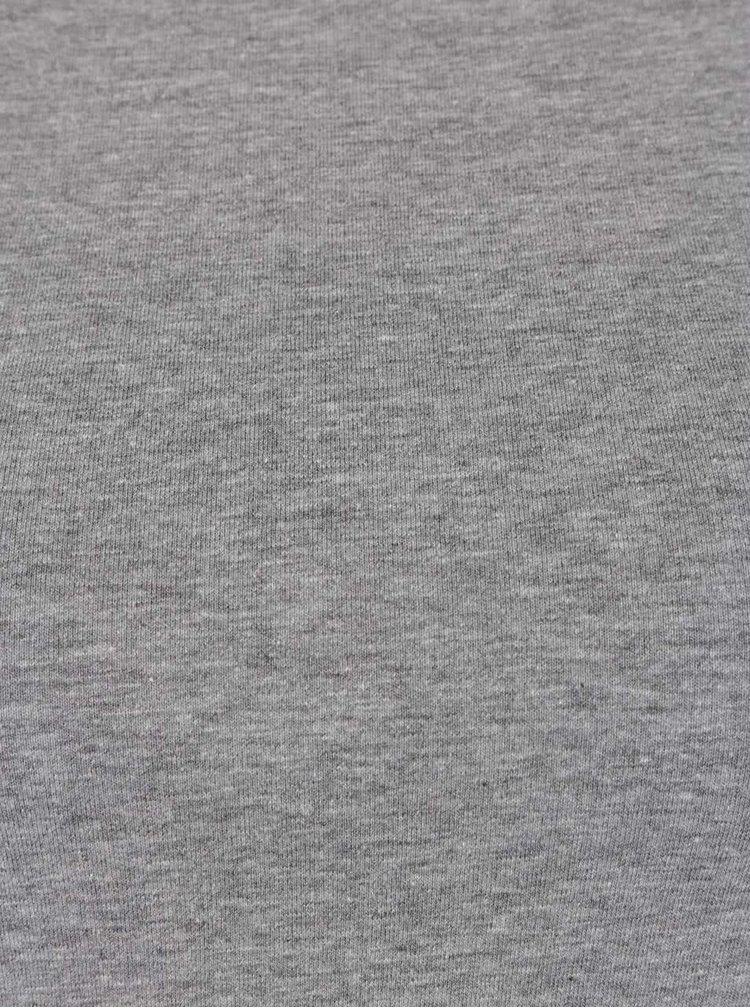 Šedé tričko s překládanou přední částí TALLY WEiJL