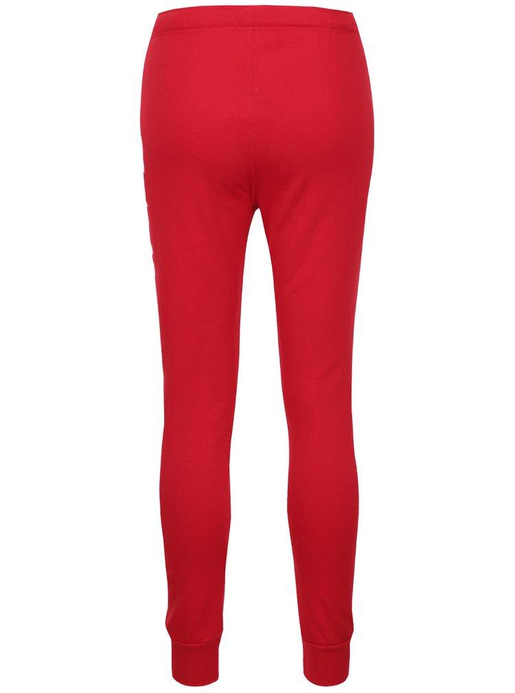 Pantaloni sport roșii TALLY WEiJL cu imprimeu text