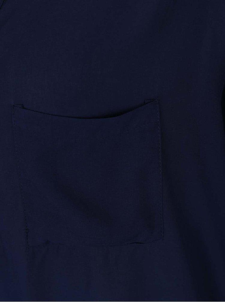 Bluză albastru închis Haily´s Florie cu nasturi