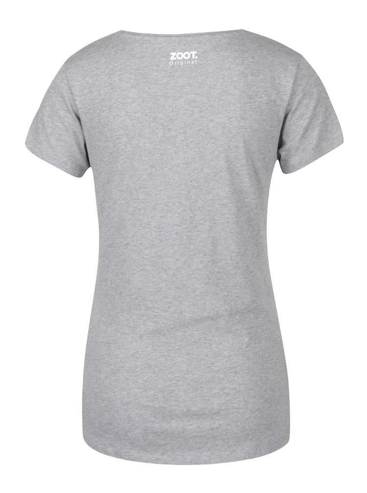 Šedé dámské tričko ZOOT Originál Lovu zdar
