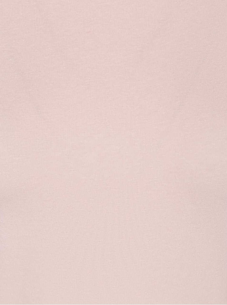 Růžové tričko s dlouhým rukávem Haily's Tina