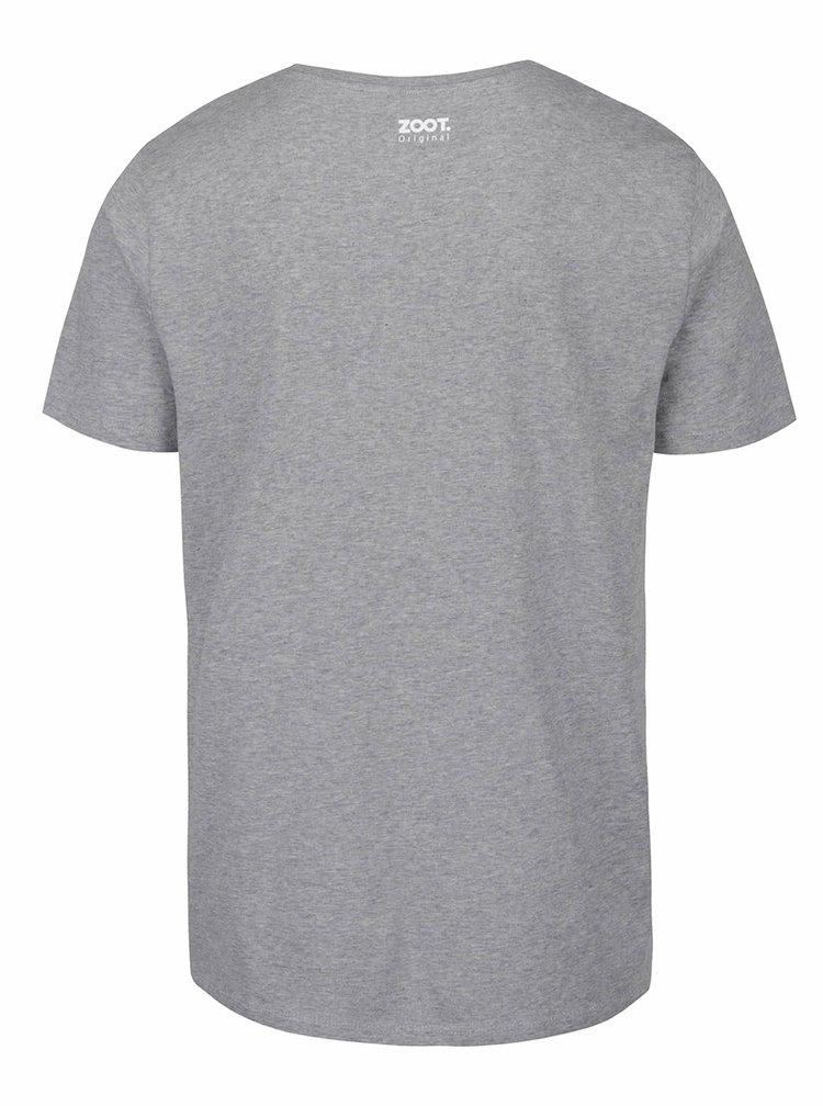 Šedé pánské tričko ZOOT Originál Lovu zdar